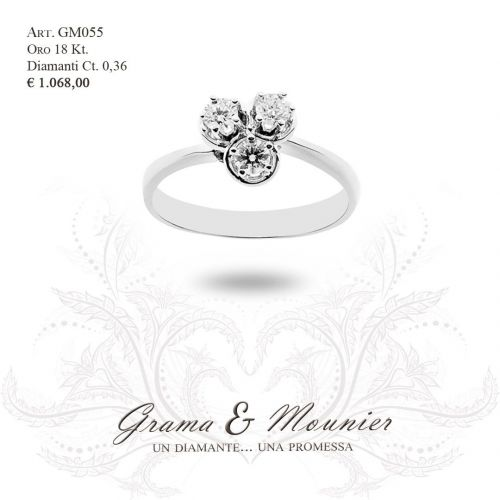 Anello in oro 18Kt. Grama&Mounier Art.GM055