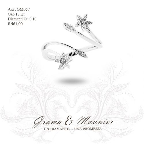 Anello in oro 18Kt. Grama&Mounier Art.GM057