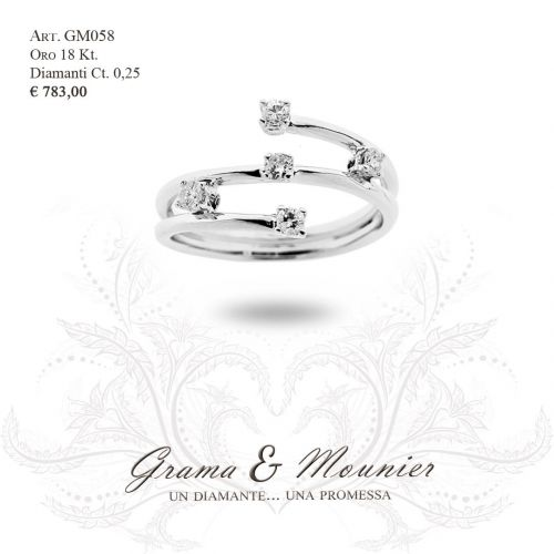 Anello in oro 18Kt. Grama&Mounier Art.GM058