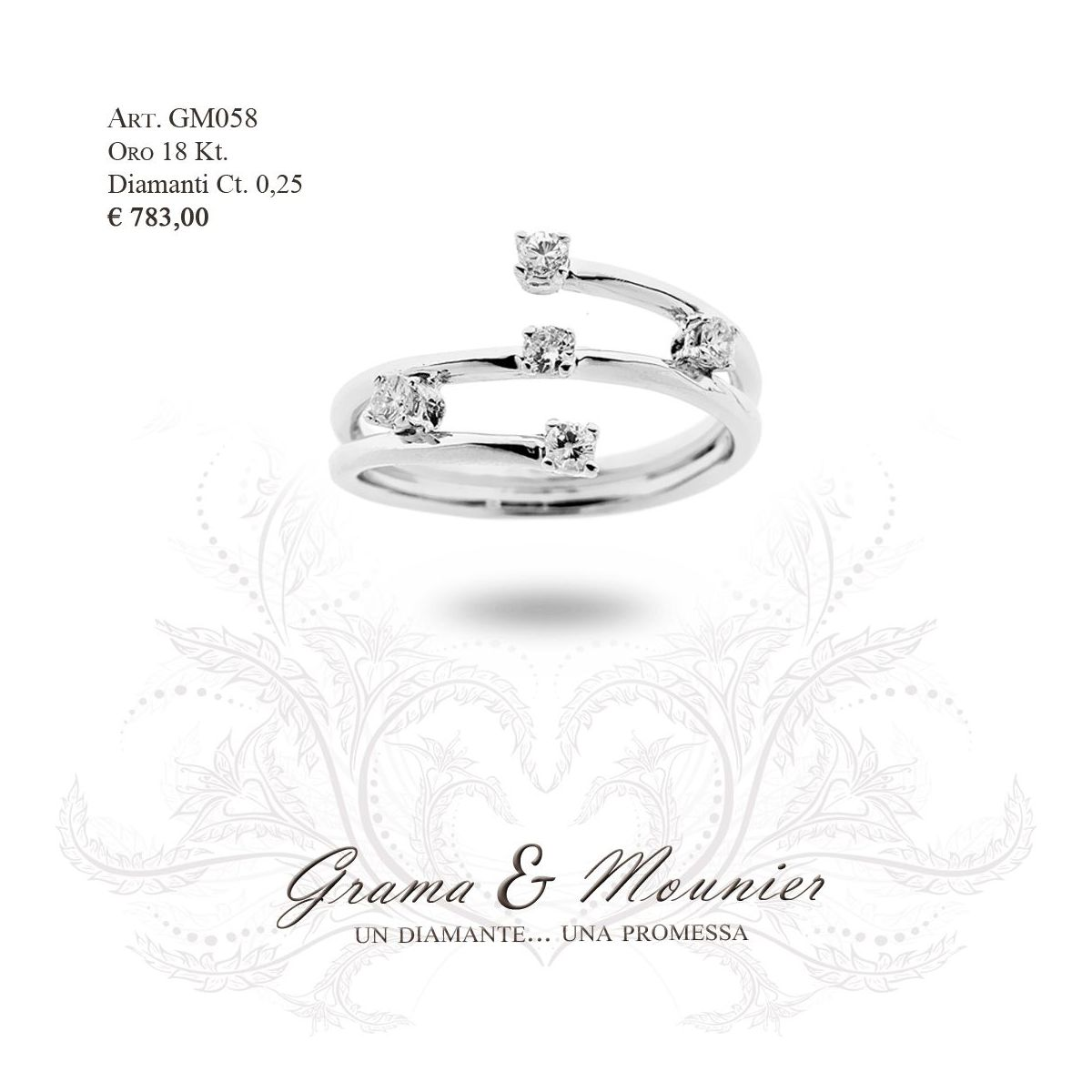 Anello in oro 18Kt. Grama&Mounier Art.GM058