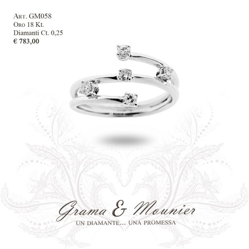 Anello in oro 18Kt Grama&Mounier Art.GM058