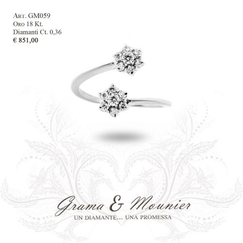 Anello in oro 18Kt. Grama&Mounier Art.GM059