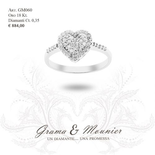 Anello in oro 18Kt. Grama&Mounier Art.GM060