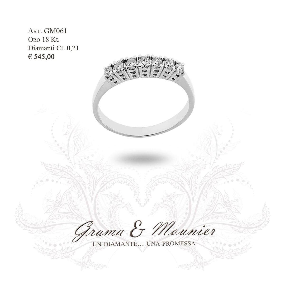 Anello in oro 18Kt. Grama&Mounier Art.GM061