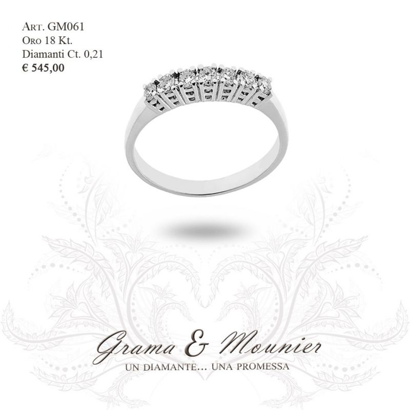 Anello Veretta in oro 18Kt Grama&Mounier Art.GM061