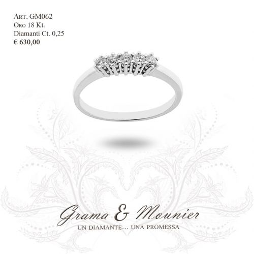 Anello in oro 18Kt. Grama&Mounier Art.GM062