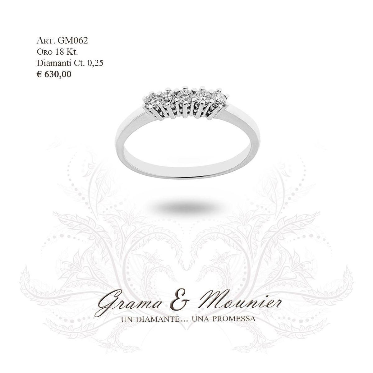 Anello in oro 18Kt. Grama&Mounier Art.GM062