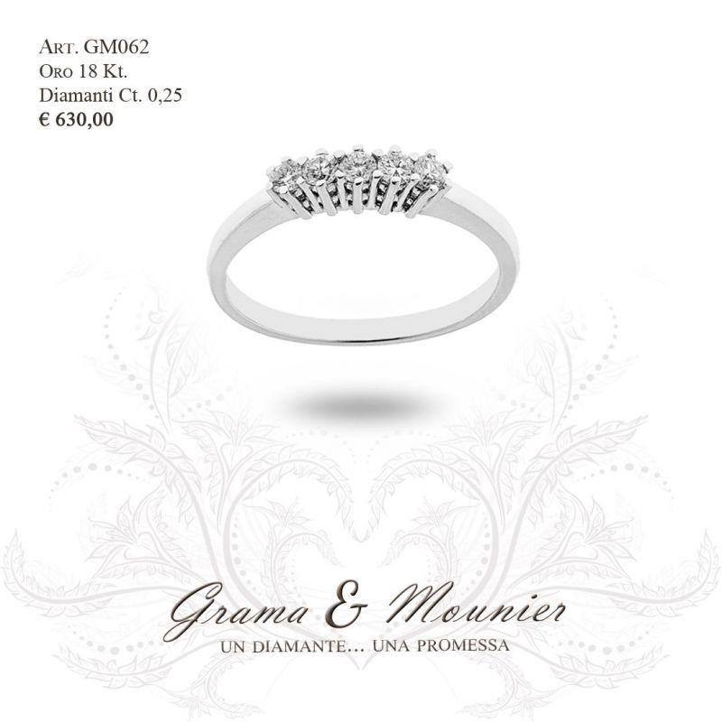 Anello Trilogy in oro 18Kt Grama&Mounier Art.GM062