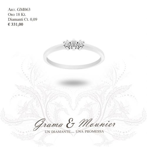 Anello in oro 18Kt. Grama&Mounier Art.GM063