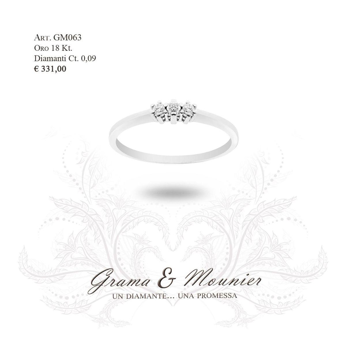Anello in oro 18Kt. Grama&Mounier Art.GM063
