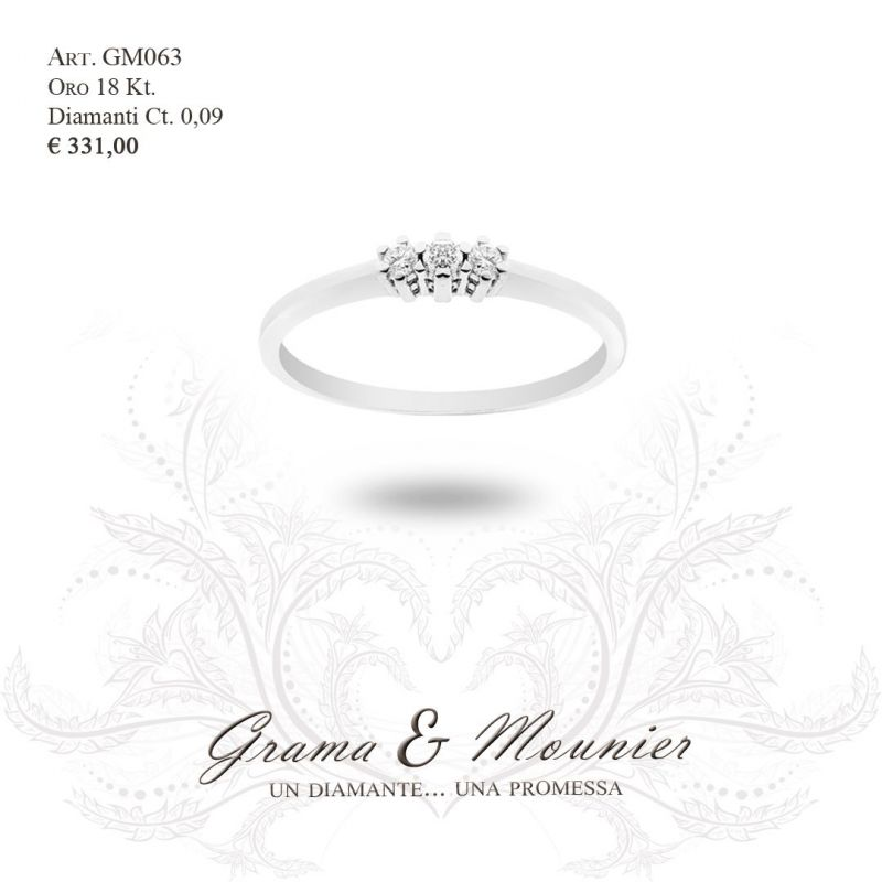 Anello Trilogy in oro 18Kt Grama&Mounier Art.GM063