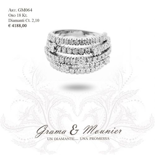 Anello in oro 18Kt. Grama&Mounier Art.GM064