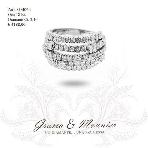 Anello in oro 18Kt. Grama&Mounier Art.GM064