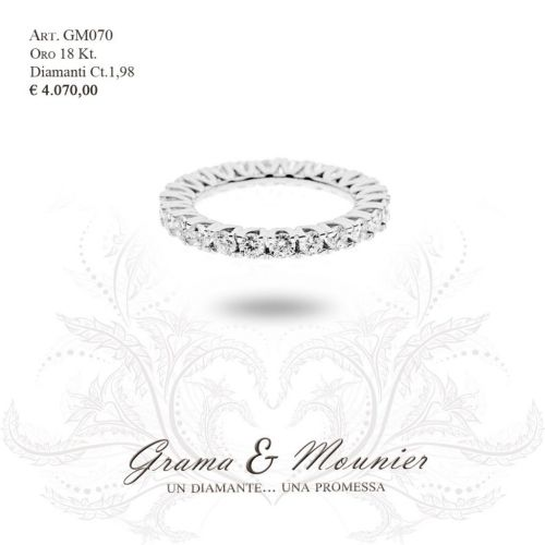 Anello in oro 18Kt. Grama&Mounier Art.GM070/10/11