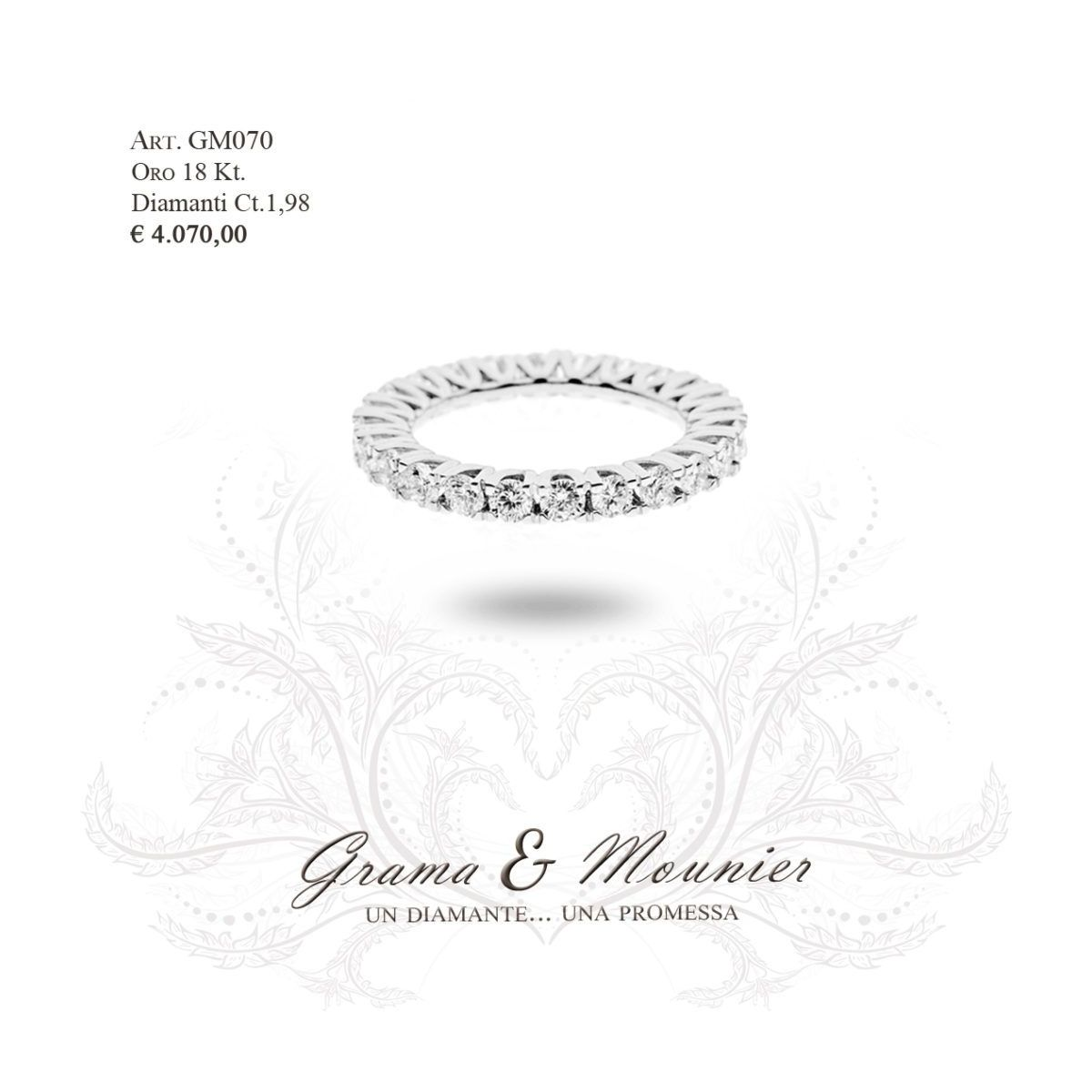 Anello in oro 18Kt. Grama&Mounier Art.GM070/10/11