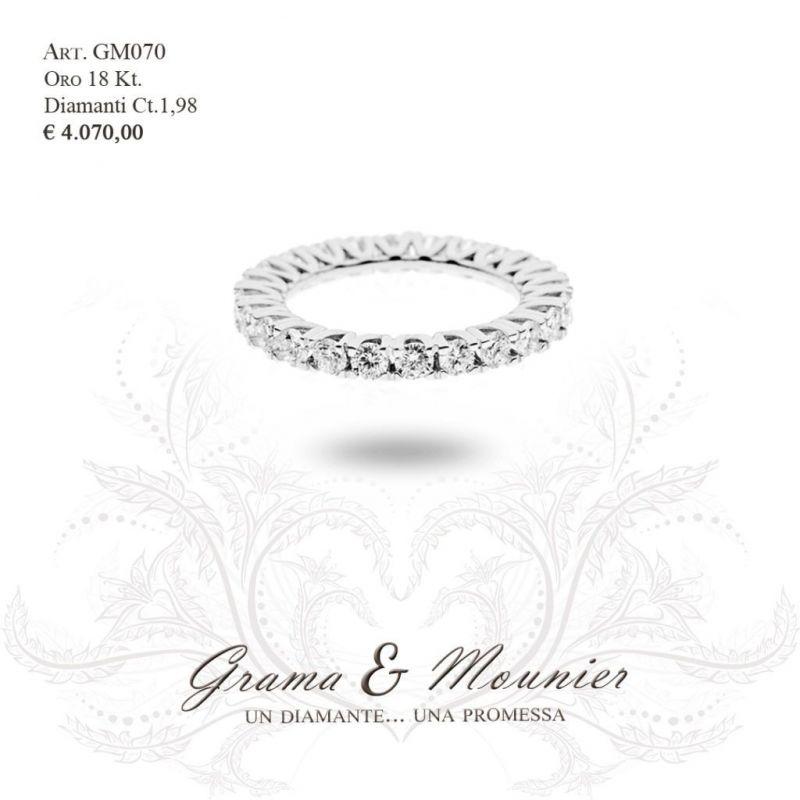 Anello Veretta in oro 18Kt Grama&Mounier Art.GM070/10/11