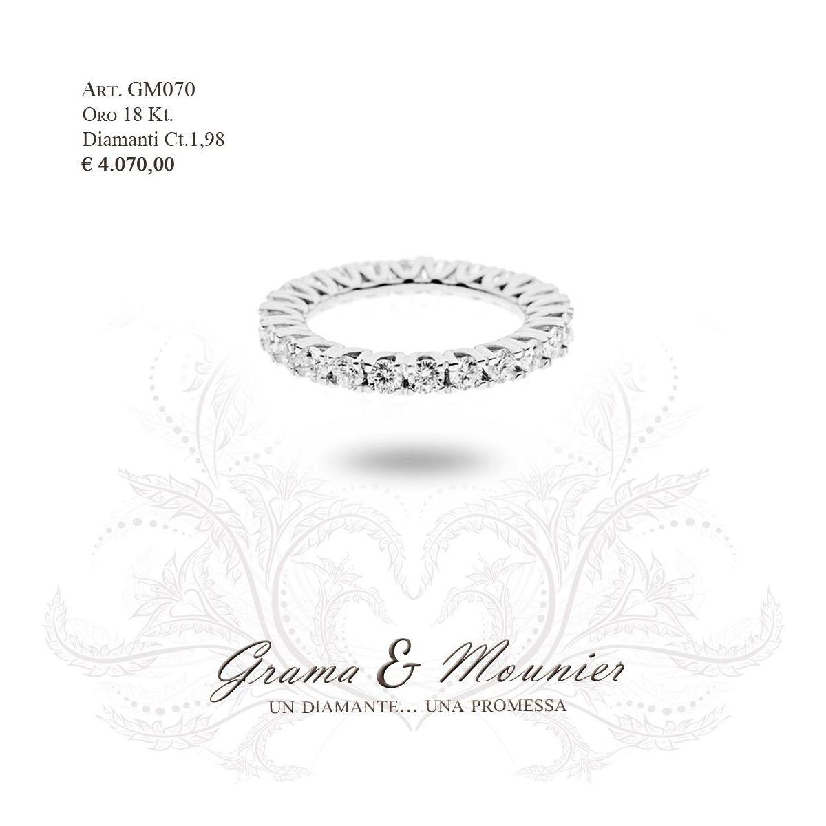 Anello in oro 18Kt. Grama&Mounier Art.GM070/12/15