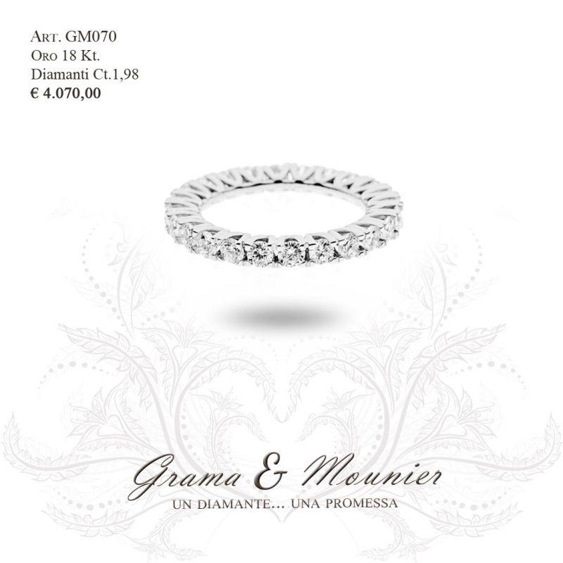 Anello Veretta in oro 18Kt Grama&Mounier Art.GM070/12/15