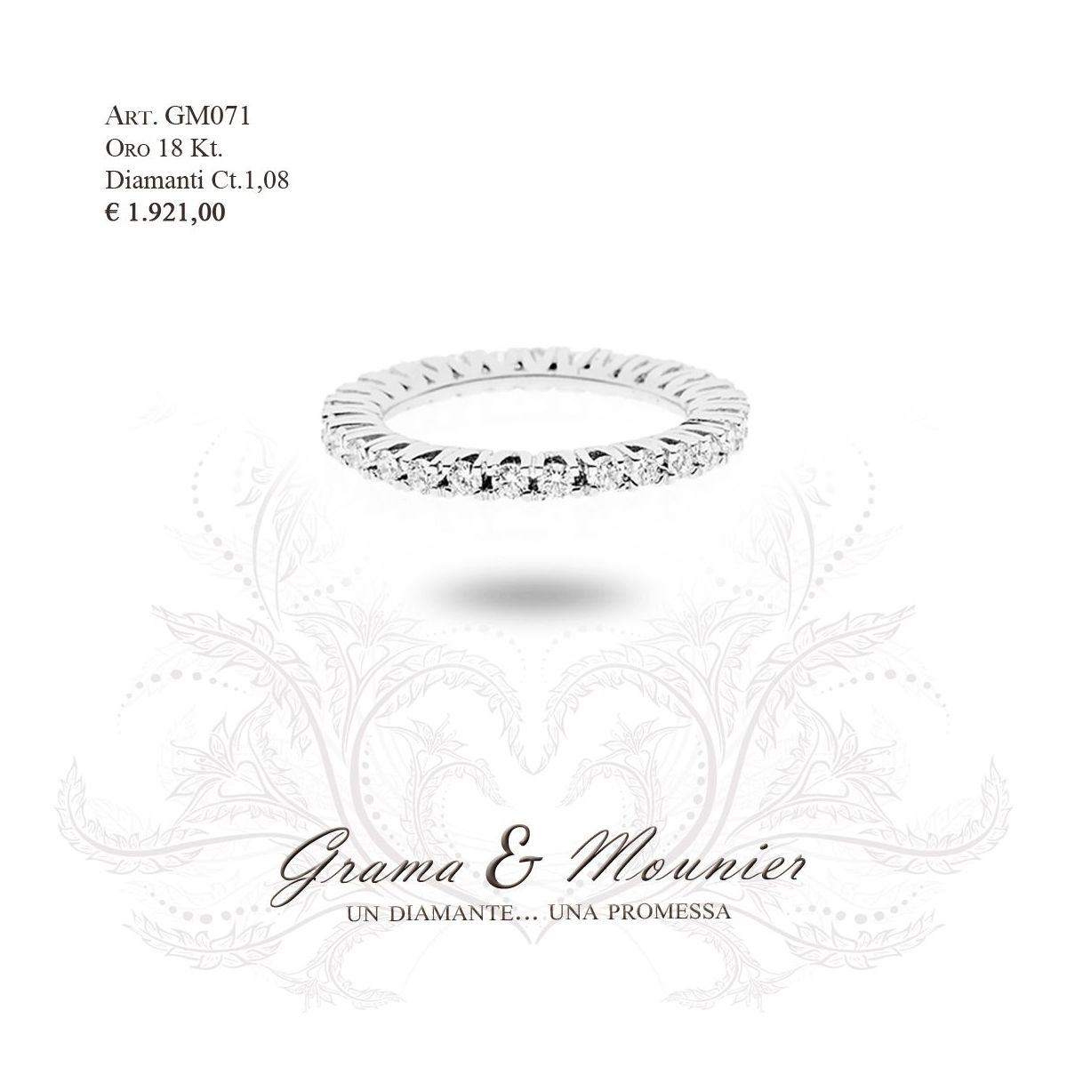 Anello in oro 18Kt. Grama&Mounier Art.GM071/16/17