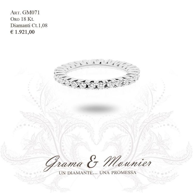 Anello Veretta in oro 18Kt Grama&Mounier Art.GM071/18/19