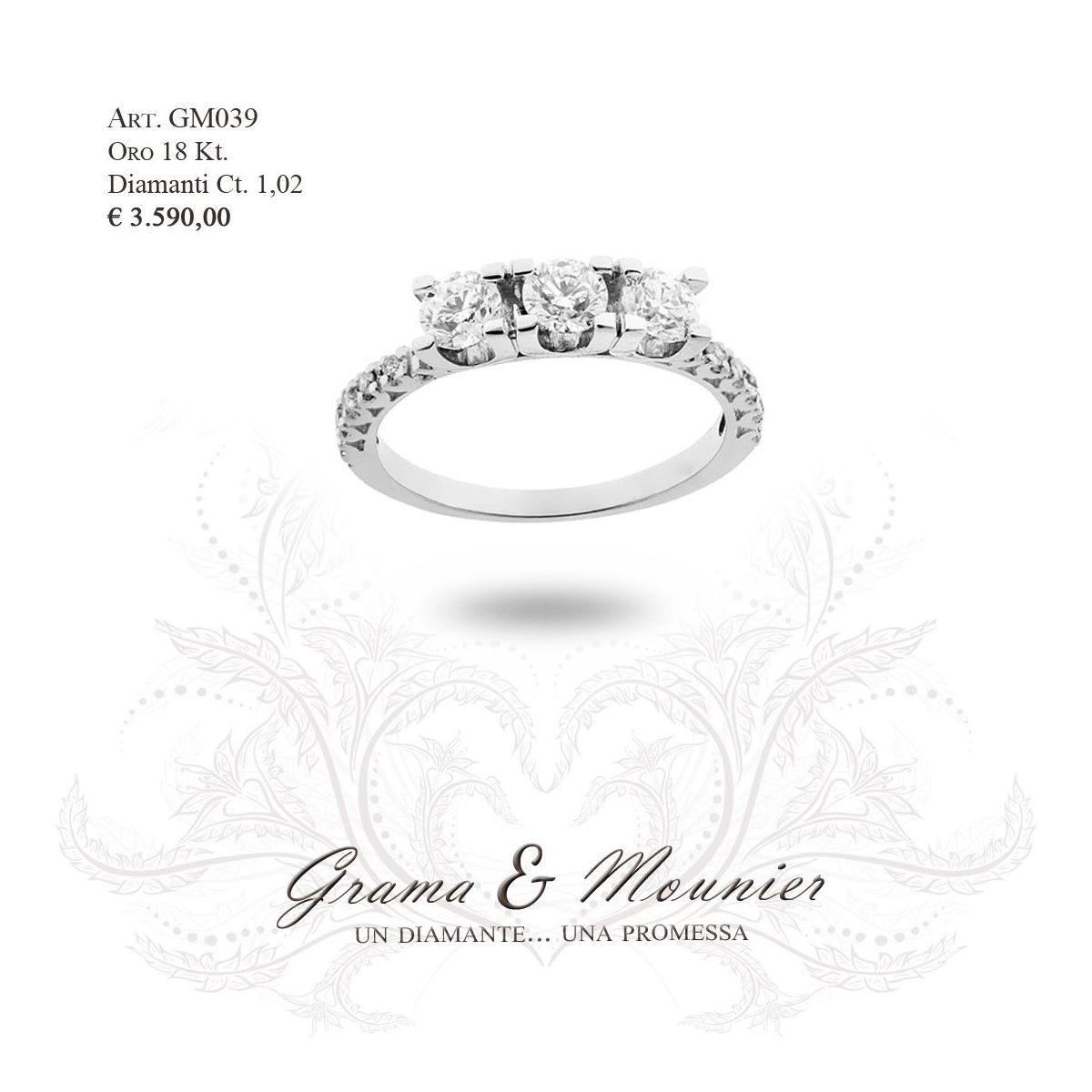 Anello in oro 18Kt. Grama&Mounier Art.GM039