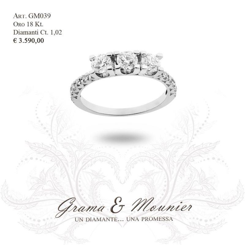 Anello Trilogy in oro 18Kt Grama&Mounier Art.GM039