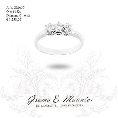 Anello in oro 18Kt. Grama&Mounier Art.GM052